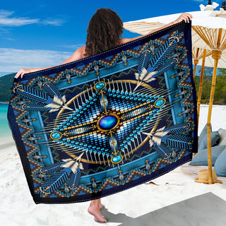 Blue Native Pattern Sarong