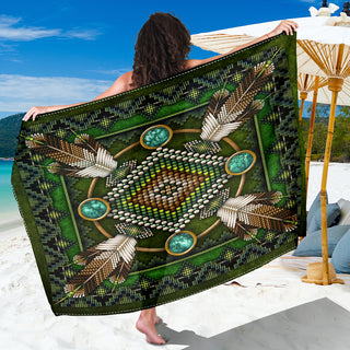 Green Native Pattern Premium Sarong