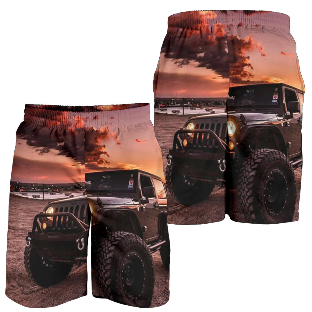 Black Jeep All Over Print Men's Short