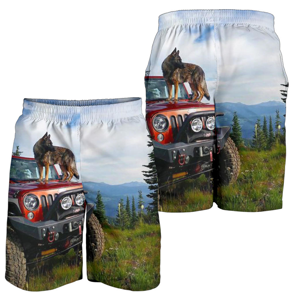 Jeep & Dog All Over Print Men's Short