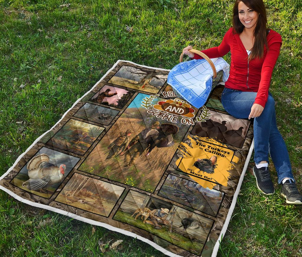 Turkey Hunting Premium Quilt