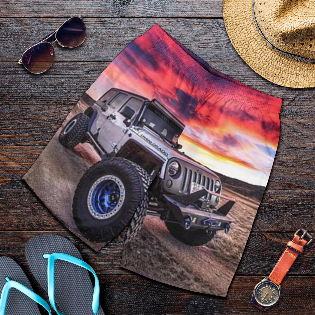 Jeep Sunset All Over Printed Men's Short