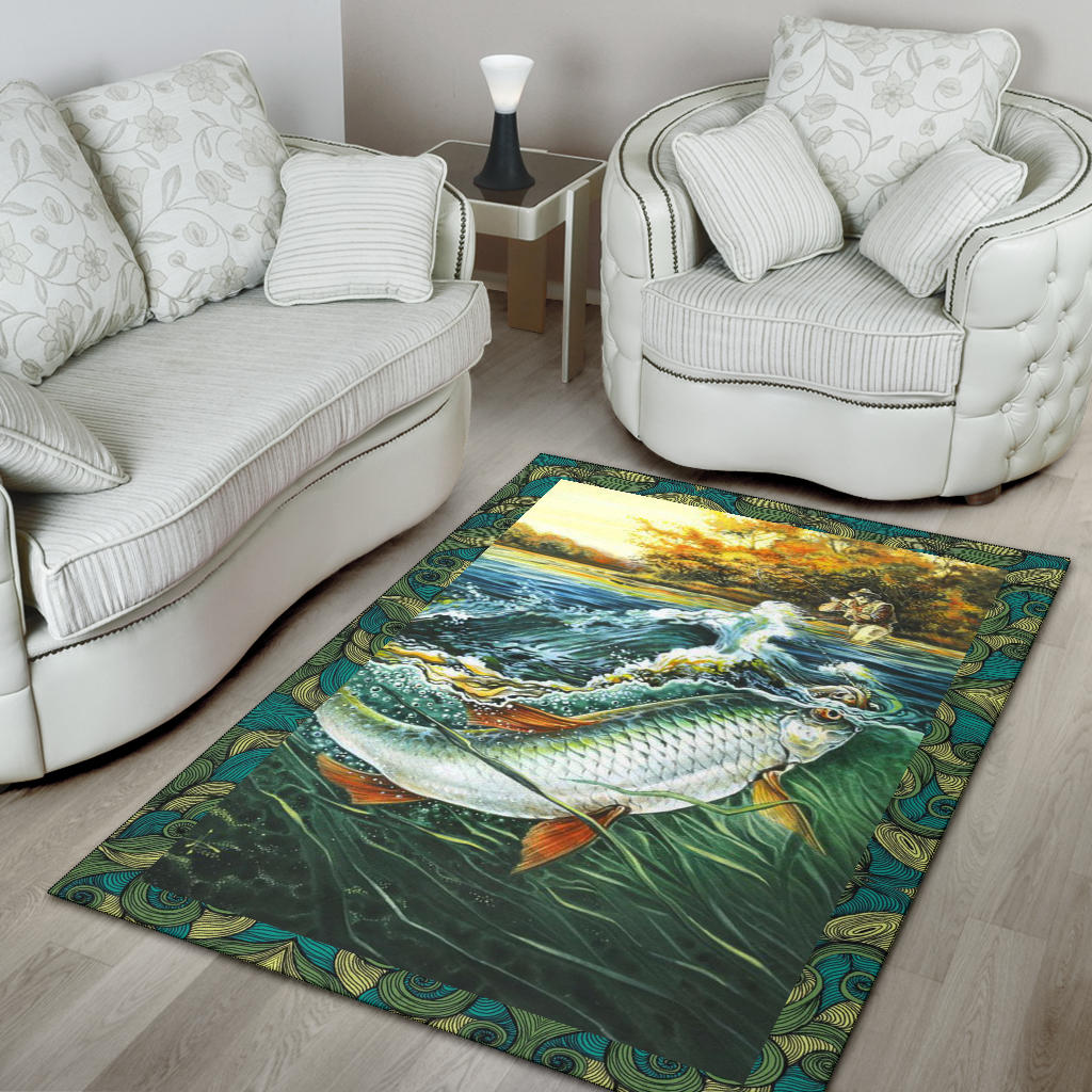 Fishing Premium Carpet Home Decor