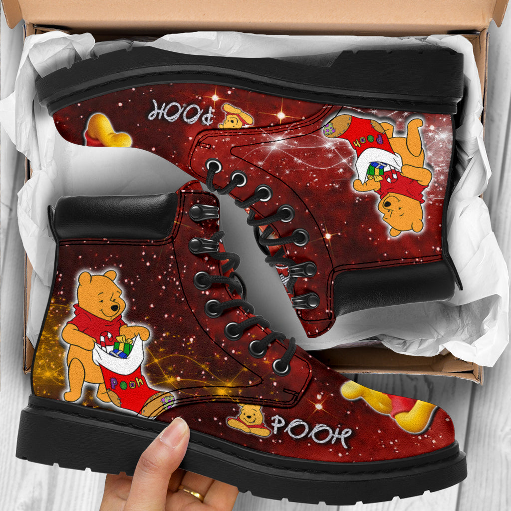 Pooh Patterns All Season Boots - Festive Collection