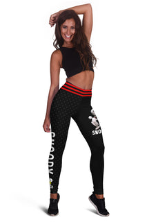 Snoopy Red House Design Leggings