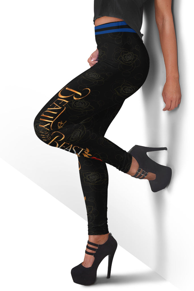 Beauty and the Beast Design Leggings