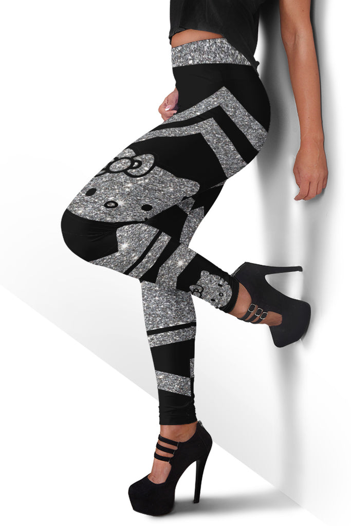 Glitter Hello Kitty Pattern Premium Leggings