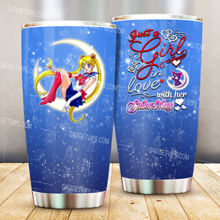 Just A Girl Loves Sailor Moon Stainless Steel Tumbler