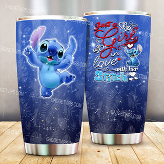 Just A Girl Loves Stitch Stainless Steel Tumbler