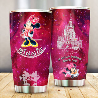 Minnie Mouse Pattern Stainless Steel Tumbler