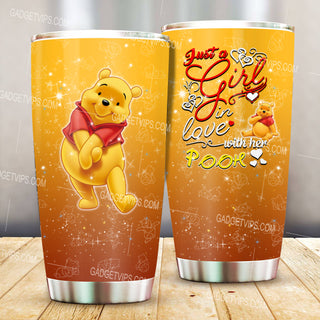 Pooh Pattern Stainless Steel Tumbler New