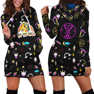 Unicorn - Go To Hell Hoodie Dress