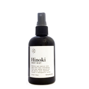 Hinoki Body Mist - te+te (te plus te) Hinoki Body Mist hydrates and restores your skin with this refreshing body mist while uplifting the spirit with Hinoki's therapeutic aroma.