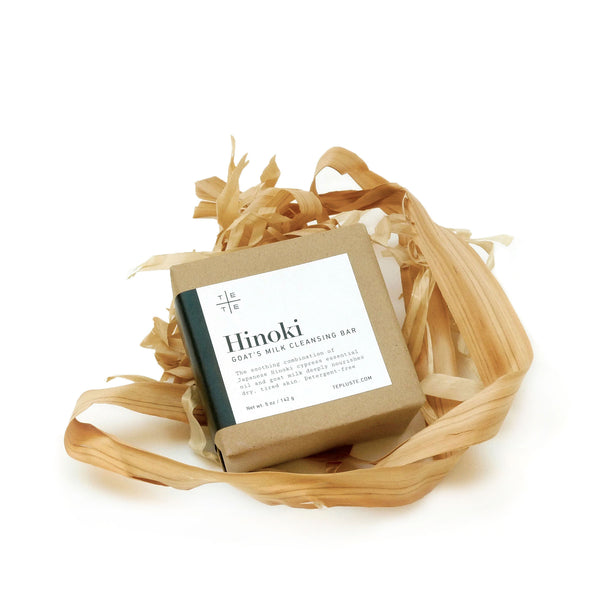 Hinoki Goat's Milk Cleansing Bar 5 oz - te+te (te plus te)
