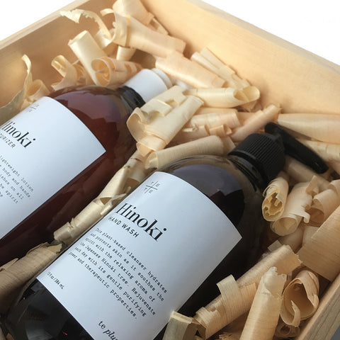 Hinoki Wood Box Duo Set