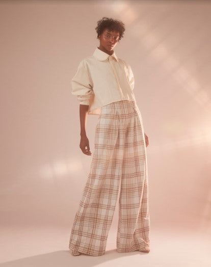 SAVANNAH PLAID PANTS