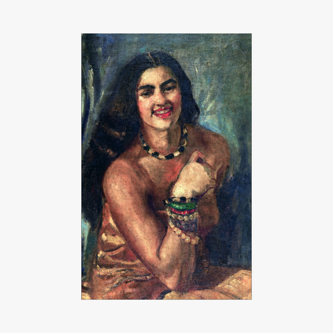 self-portrait of amrita sher-gil on oil on canvas