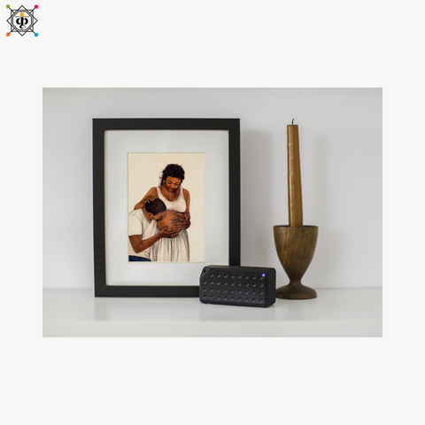 miniature framed portrait of a pregnant couple by artist pushkar for koonchi