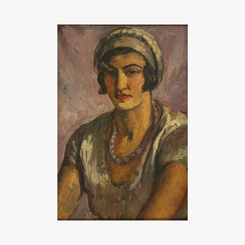 girl in mauve by amrita sher-gil on oil on canvas