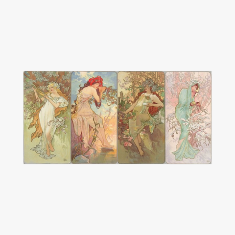the seasons series by  alfons mucha