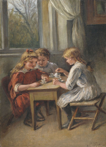 Three Girls at a Cafe by Pietronella Peters