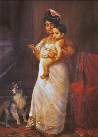 There Comes Papa by Raja Ravi Verma