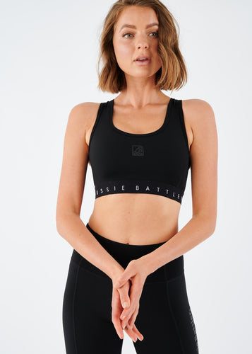 Aussie Battler Sports Bra - Black