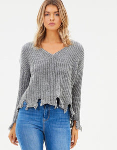 Jordyn Distressed Knit