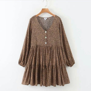 Laner Leopard Dress