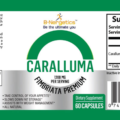 B-Nergetics Caralluma 1200mg - appetite suppressant - fat burner - b-nergetics.com