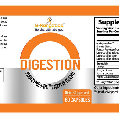 B-Nergetics Digestion Makzyme Enzyme Blend Supplement