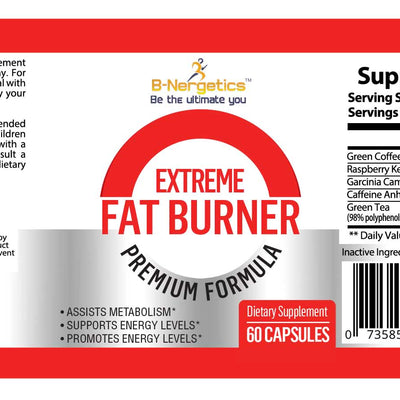 B-Nergetics Xtreme Fat Burner Product Label Ingredients