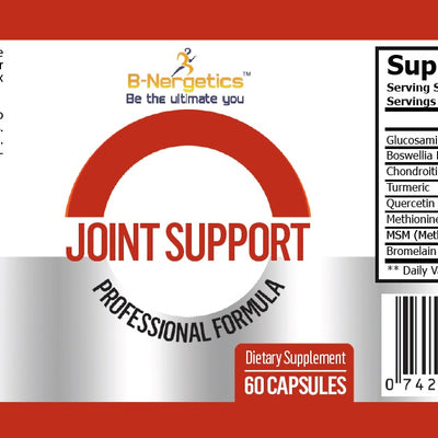 B-Nergetics Joint Support Supplement Label Ingredient Picture