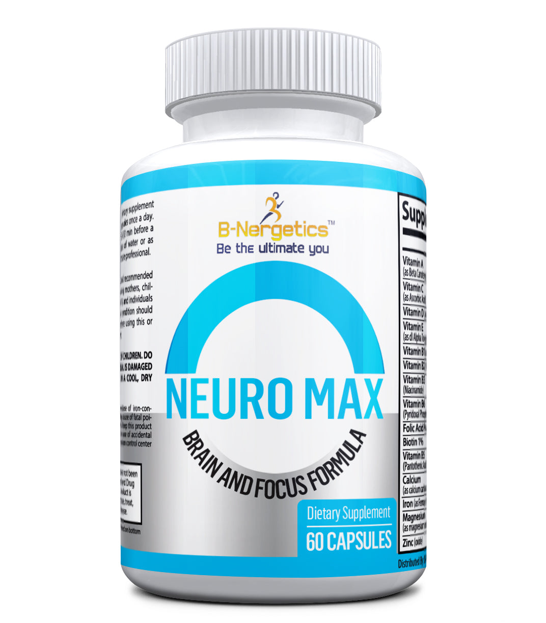 Neuro Max Brain and Focus Capsules - b-nergetics.com