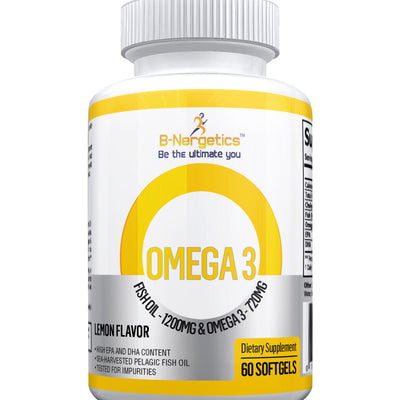 OMEGA 3 Fish Oil Softgels - b-nergetics.com
