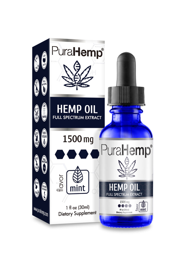 Medical Grade | Full Spectrum CBD Hemp Oil 1500mg By PuraHemp