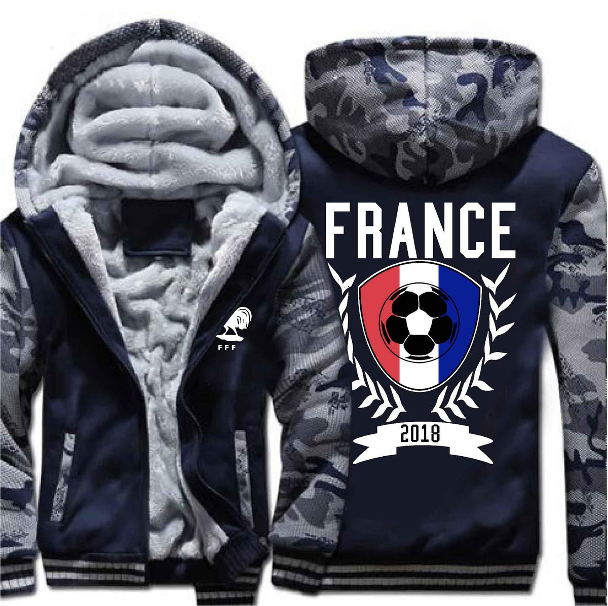 395b809cd54b3 [ 50% OFF !!] EXCLUSIVE FRANCE TEAM FOOTBALL HOODIE JACKET - FREE SHIPPING