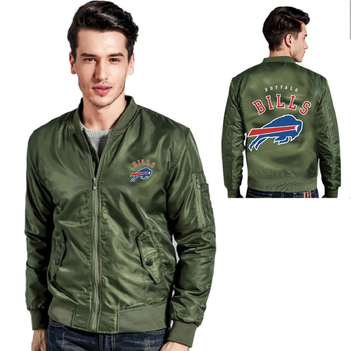 best service a8e6a f5c92 [ 50% OFF !!] EXCLUSIVE BUFFALO BILLS BOMBER JACKET - FREE SHIPPING