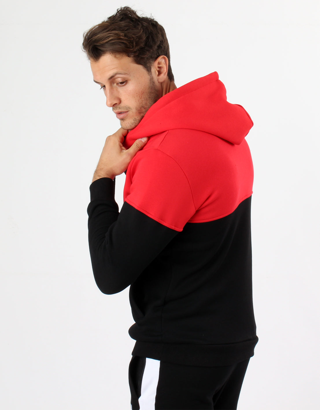 Dual Hoodie - Red/Black - 2 Addictive