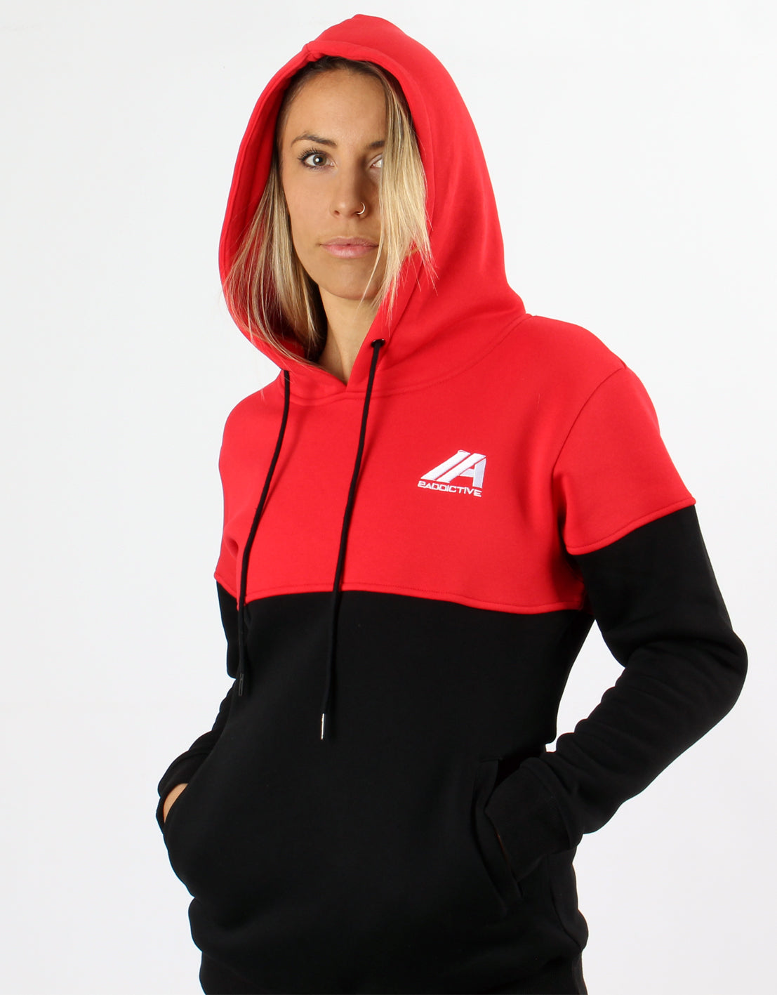 Women's Dual Hoodie - Red/Black - 2 Addictive