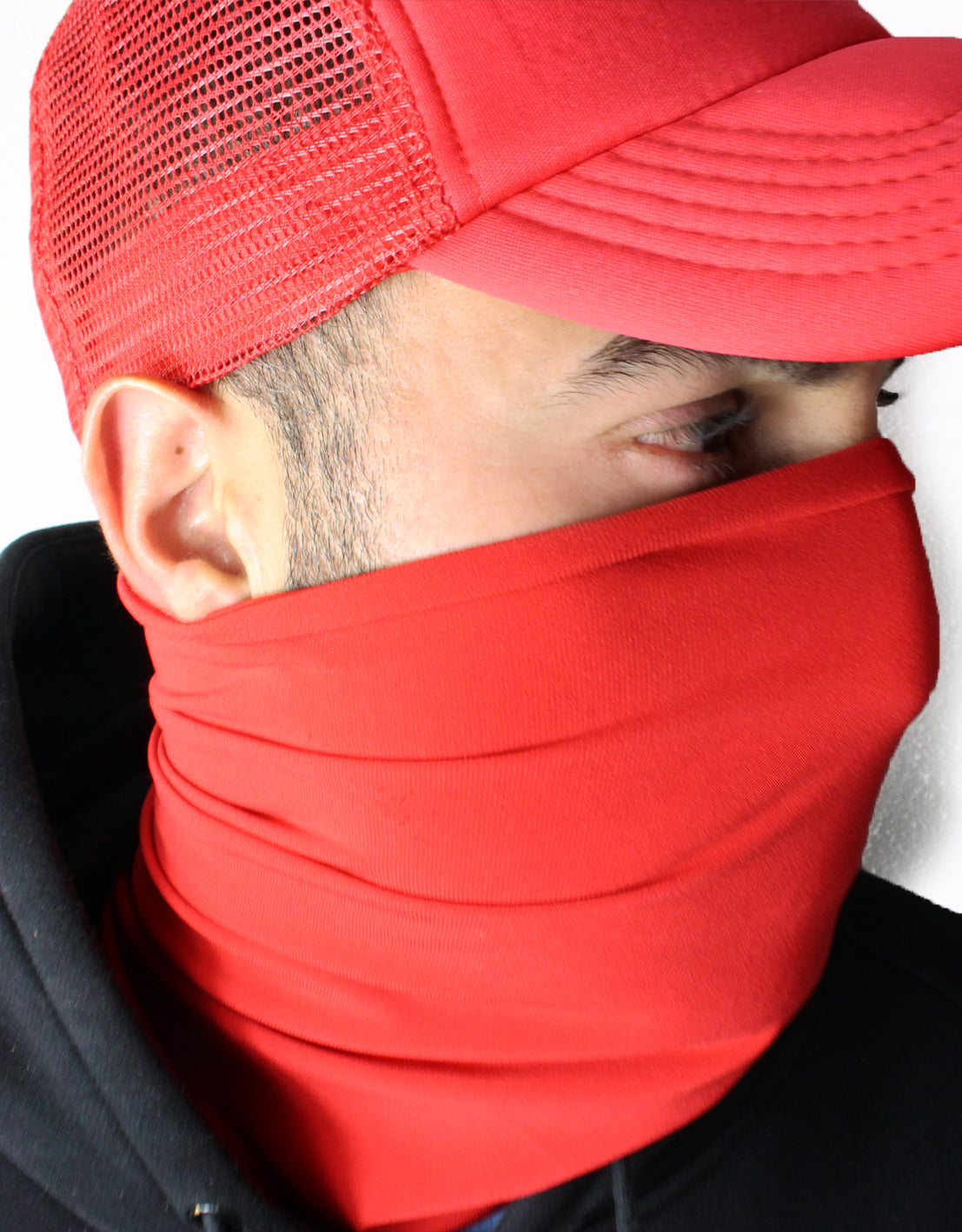 NEW Light Weight Neck Warmer/ Face covering  - Red - 2 Addictive