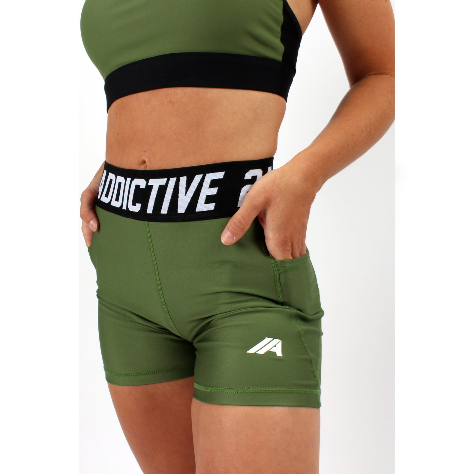 Atleta series - Khaki shorts - 2 Addictive