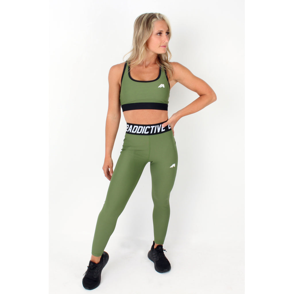 Atleta Series –  Khaki Leggings - 2 Addictive