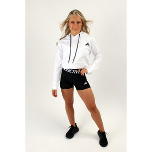Atleta Series - White Cropped Hoodie - 2 Addictive