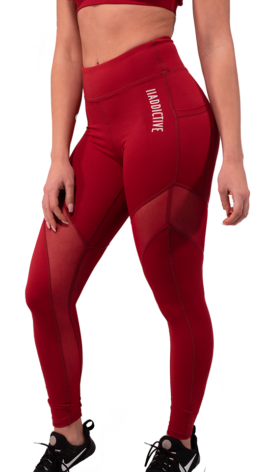 Active V Beetroot Leggings - 2 Addictive