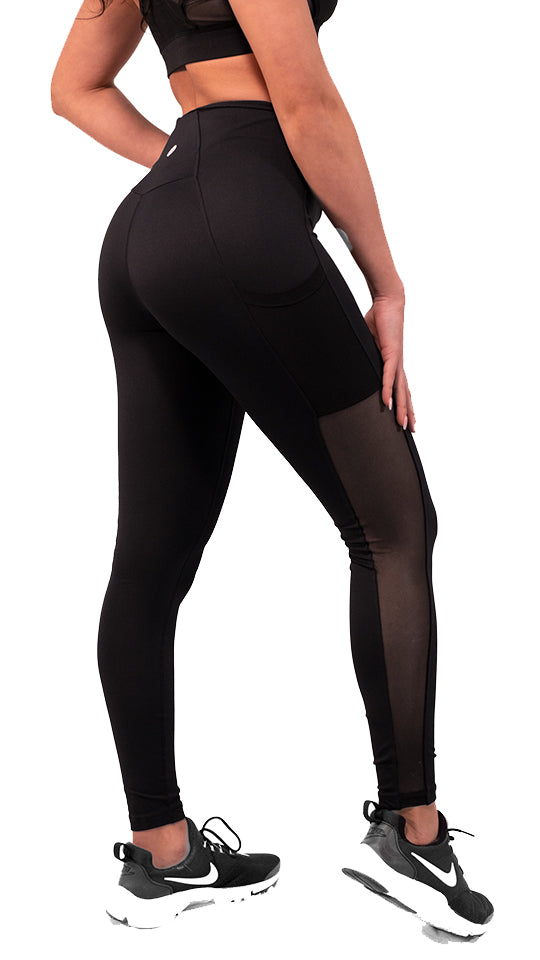 Athletic Mesh Black Leggings - 2 Addictive