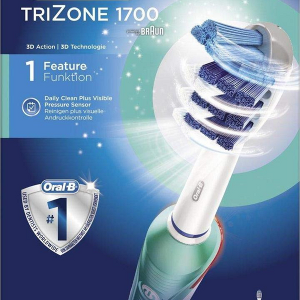 Oral-B - TriZone 1700 Electric Toothbrush, 2nd brush head included