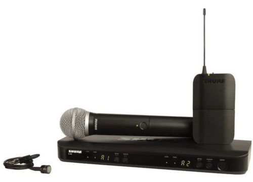 Shure BLX1288/CVL Dual Lavalier Handheld UHF Wireless Microphone System