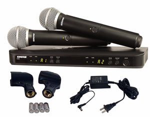 Shure BLX288/PG58 Dual Handheld UHF Wireless Microphone System