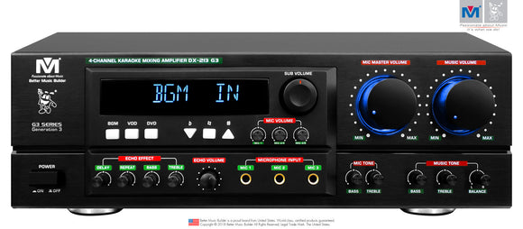 Better Music Builder DX-213 G3 800W KARAOKE MIXING AMPLIFIER